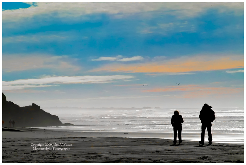 Couple at Pomponio State Beach