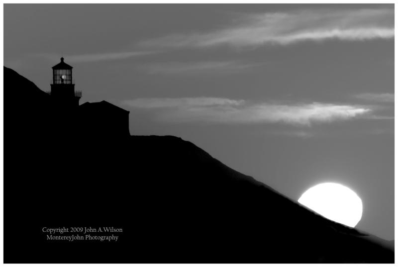 Sunset at Point Sur, Big Sur, CA