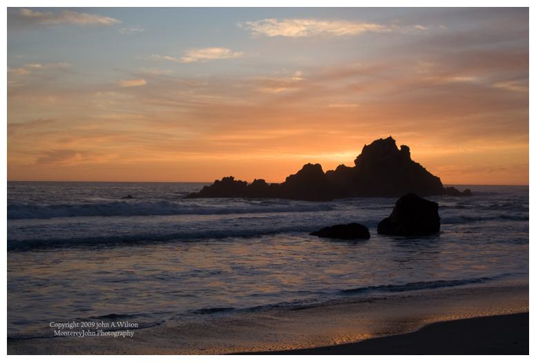 Pfeiffer Beach, Big Sur, Sunset