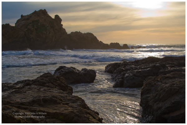 Pfeiffer Beach, Big Sur, California - Sunset