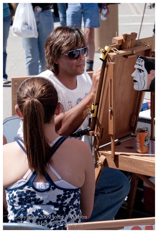 San Juan Bautista characature artist