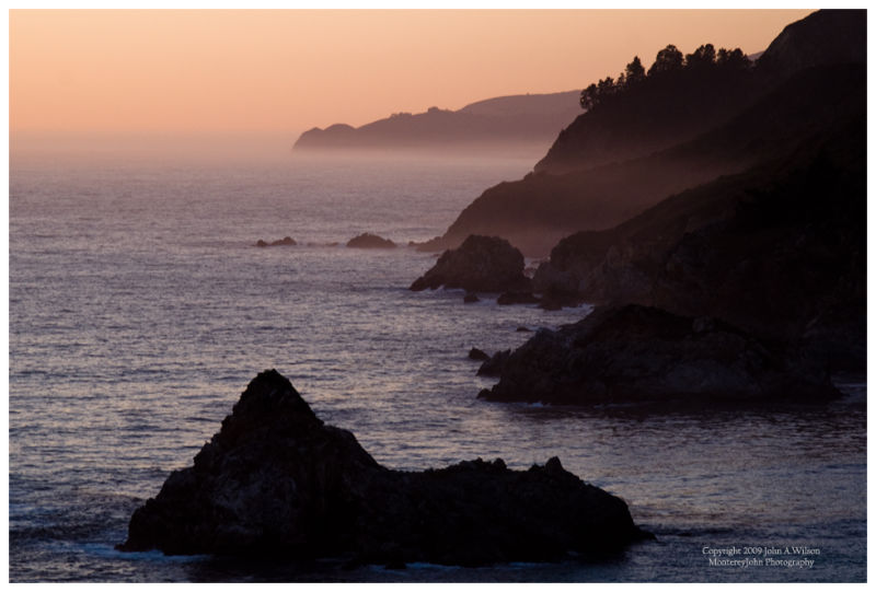 Twilight at Big Sur
