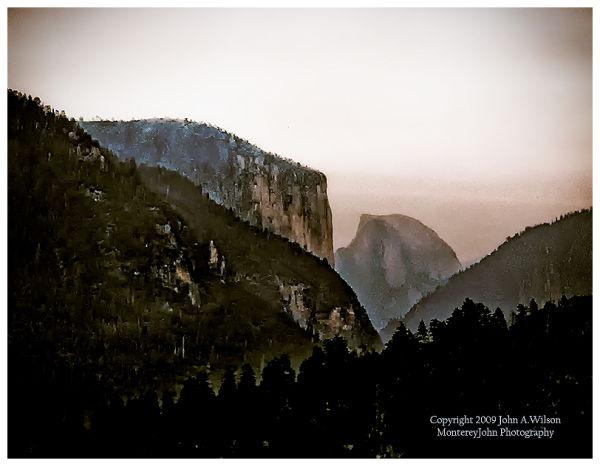 Yosemite, Half Dome at Twilight