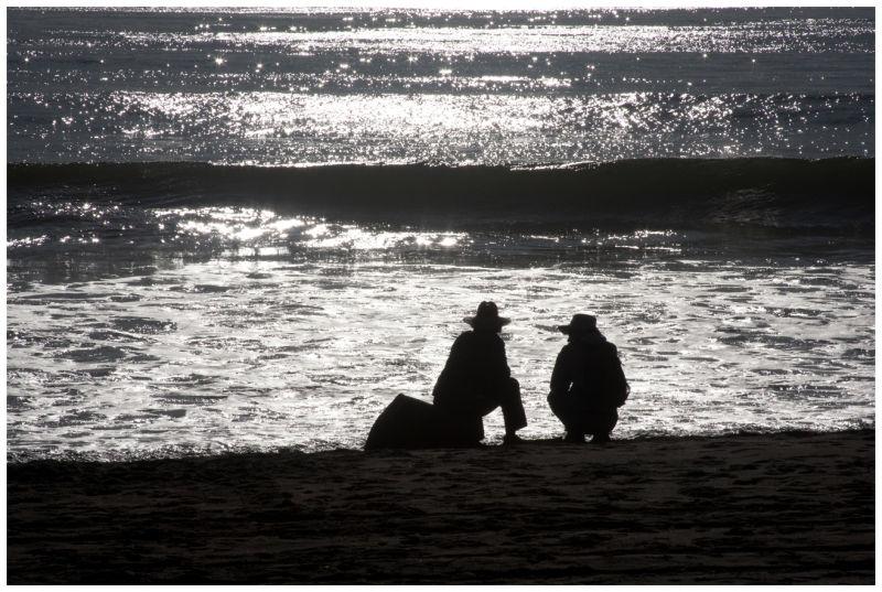 Sea Cliff Beach, CA, on a Fall Day