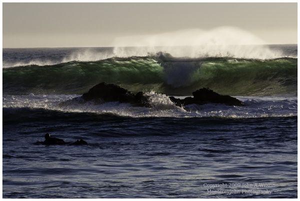 Surfer at Pfeiffer Beach, Big Sur, CA