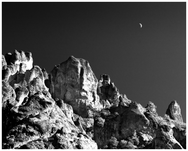 Pinnacles National monument Moonrise