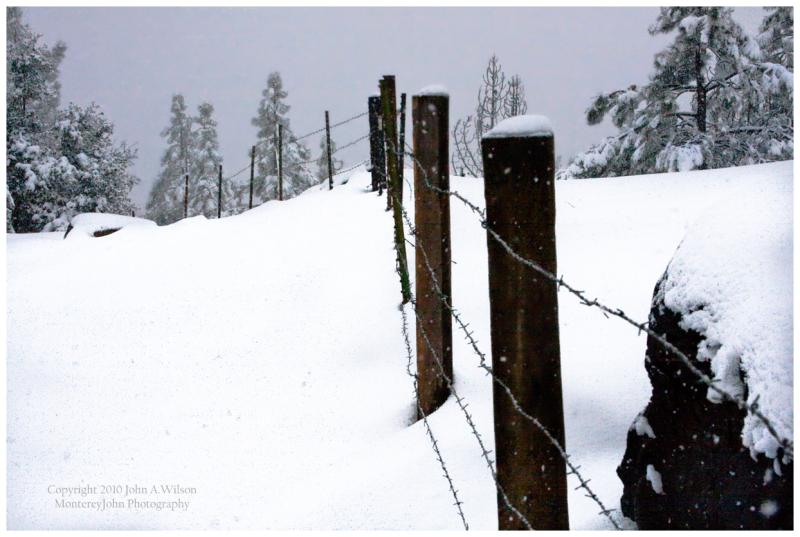 Chew's Ridge Snow