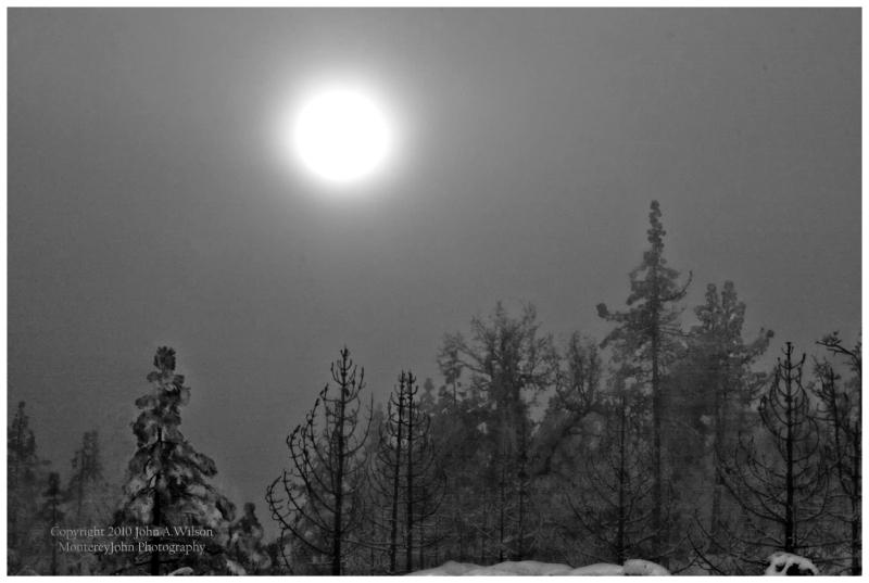 Chew's Ridge Winter Sun