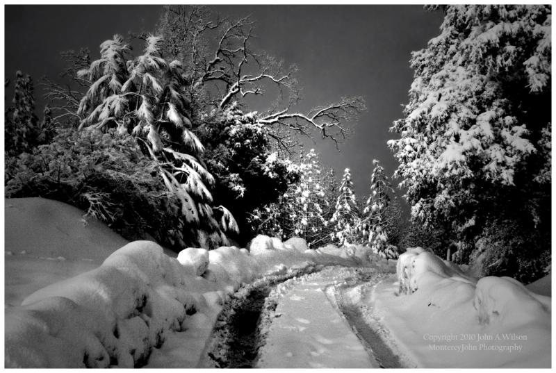 Chew's Ridge, Monterey County, snow
