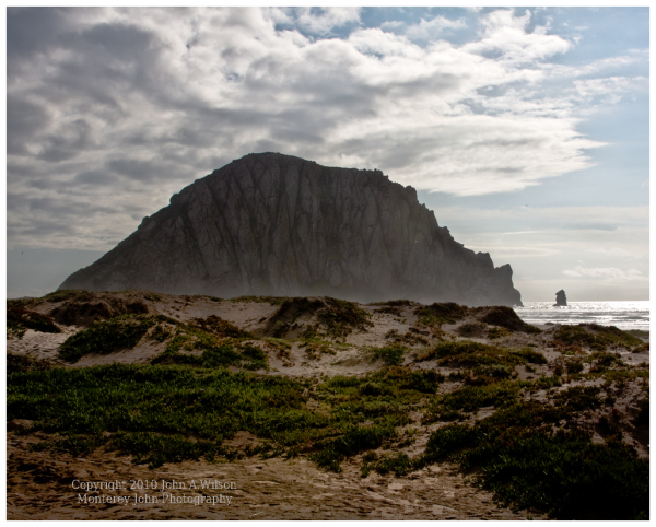Morro rock from Dunes to the north