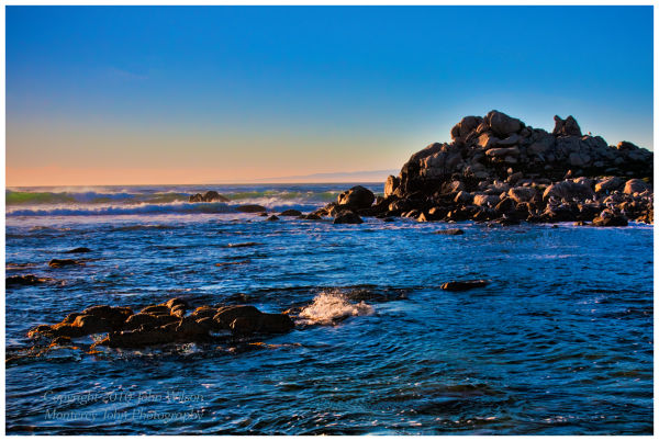 Pt Pinos, Pacific Grove Sunset HDR