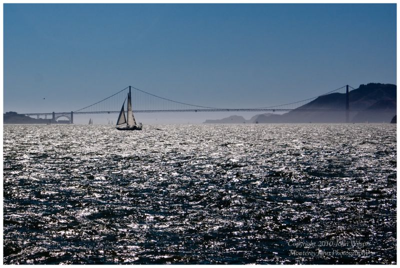 San Francisco Bay and Golden Gate from Treasure Is
