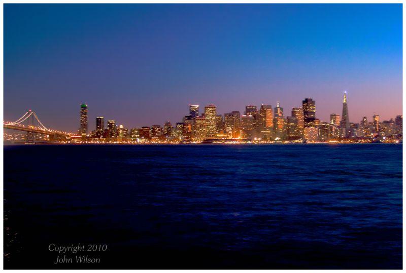 San Francisco night skyline