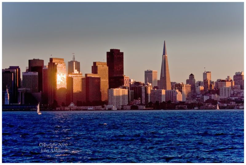 Sunset over San Francisco
