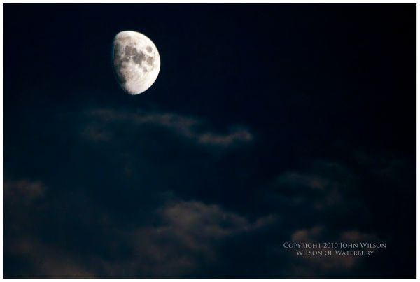 Moon over Waterbury, CT