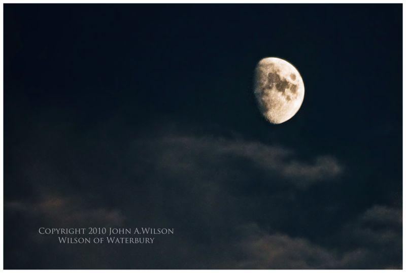 Handheld shot of moon