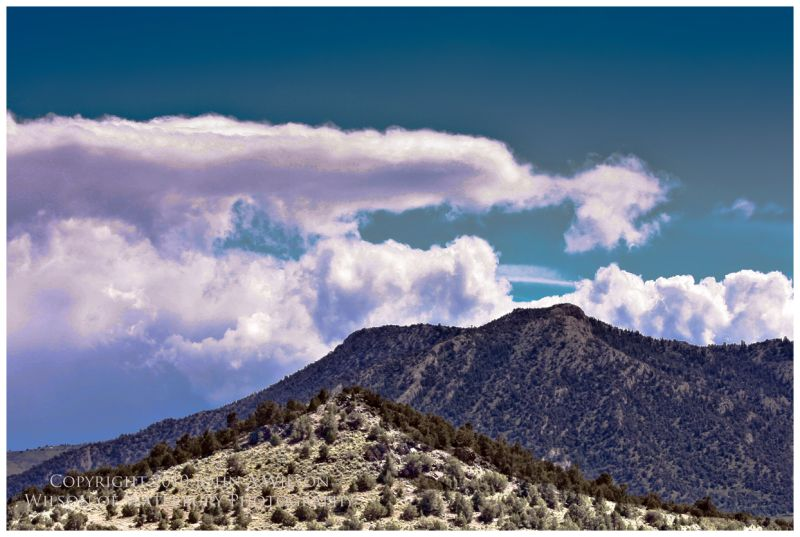 Nevada Nountains and gathering strom clouds