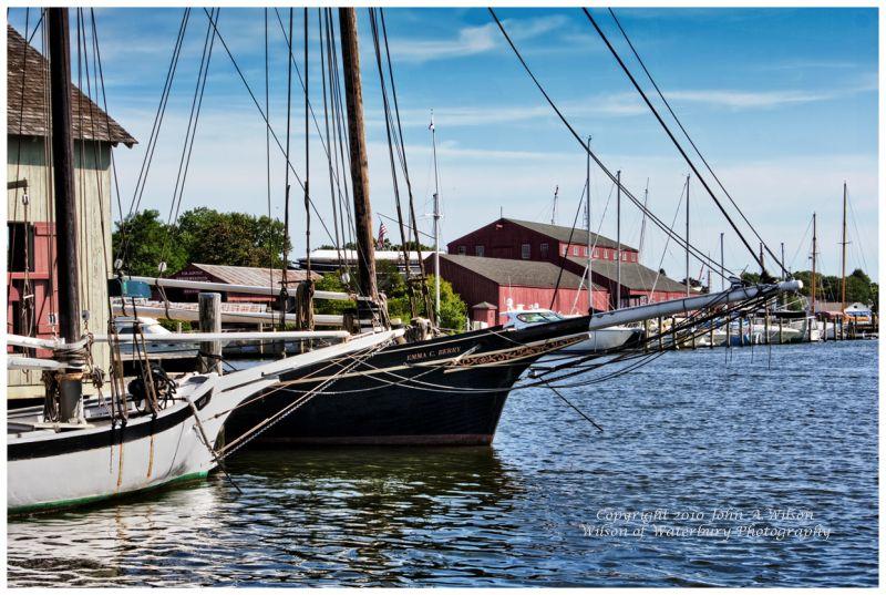 Mystic Seaport waterfront