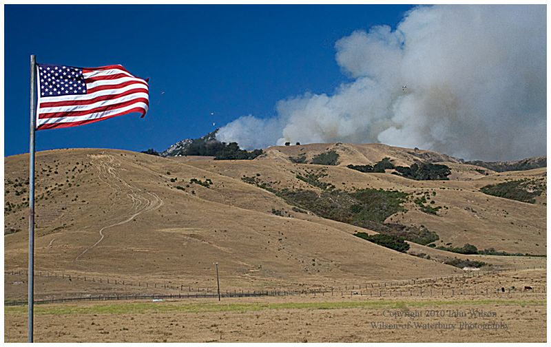 Basin Fire, Big Sur, CA 2008 in Memory of 9-11