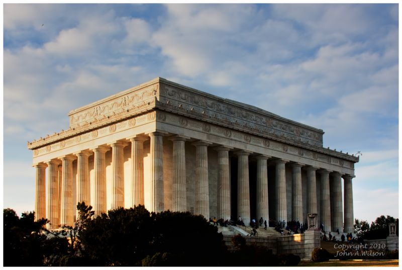 Lincoln Memorial late fall afternoon