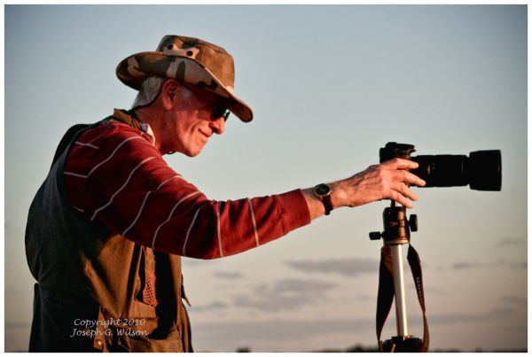 John Wilson  setting up to shoot Florida sunset