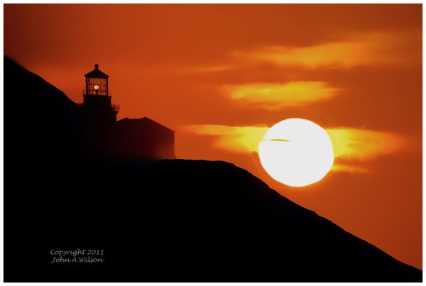 Sunset at Point Sur Lighthouse, Big Sur, CA