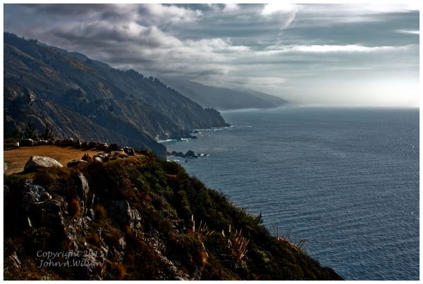 Lifting Fog on Big Sur Coast