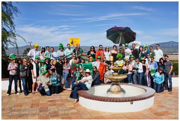 St Patrick's Day at Paraiso Winery, Salinas Valley