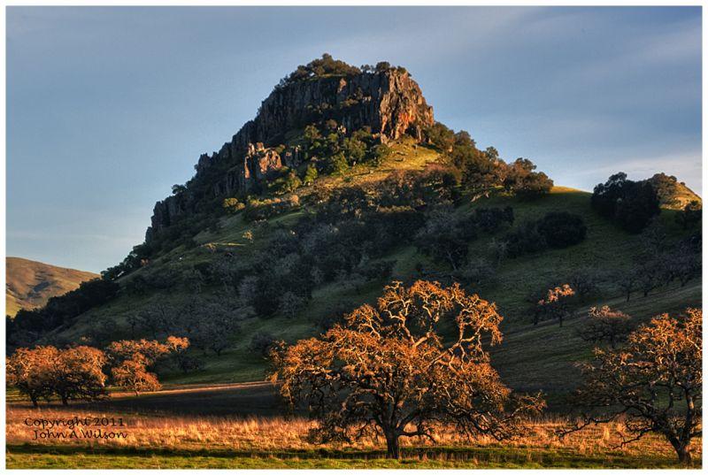 Sunset on San Benito County Mountain