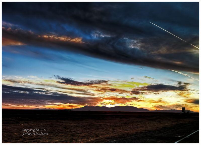 Sunrise in the New Mexico Desert