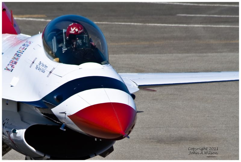 US Air Force Thunderbird at Salinas, CA, Airshow