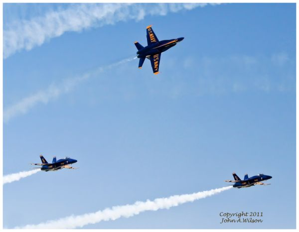 US Navy Blue Angels at Salinas, CA, Airshow