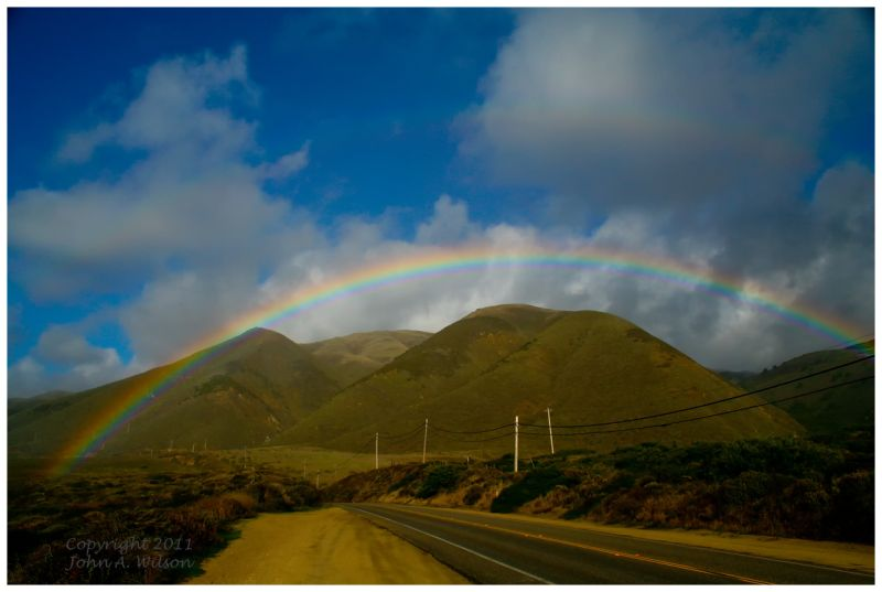 Rainbow over Route 1, Big Sur, CA