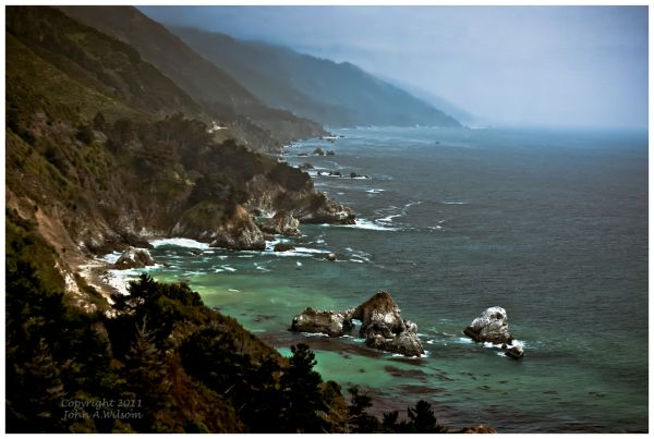 Big Sur - sun and fog