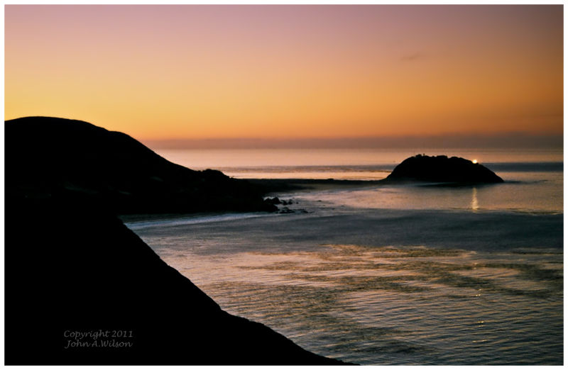 Daybreak at Point Sur Lighthose, Big Sur, CA