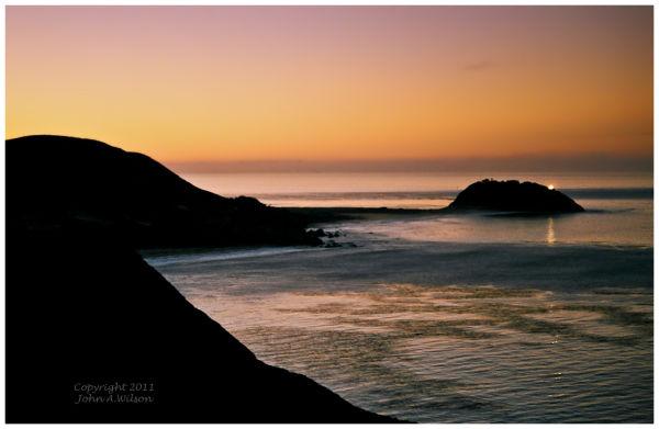 Daybreak at Point Sur Lighthose, Big Sur, CA