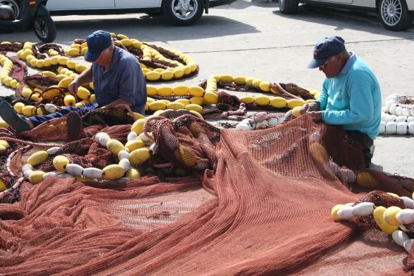 peniche pescador arte-xávega rede