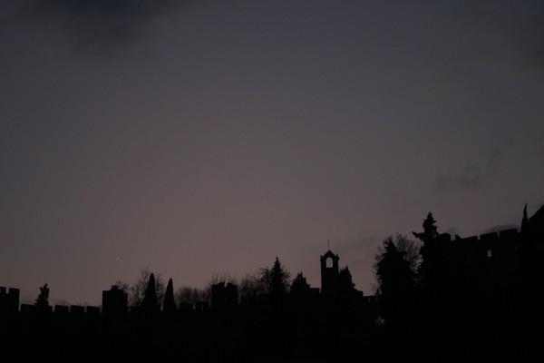 tomar sunset convento-de-cristo cityscape Skyline