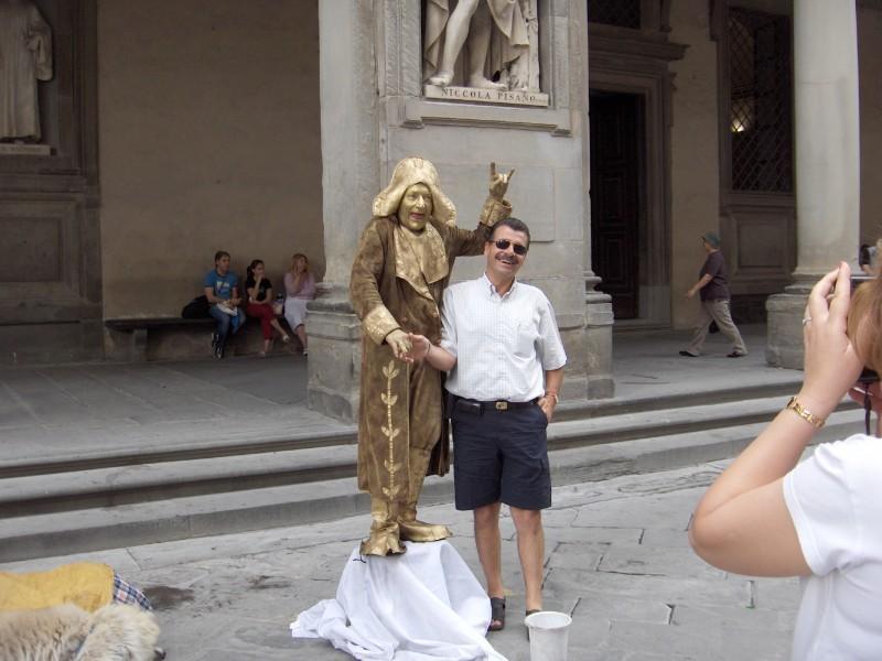 Homem estátua