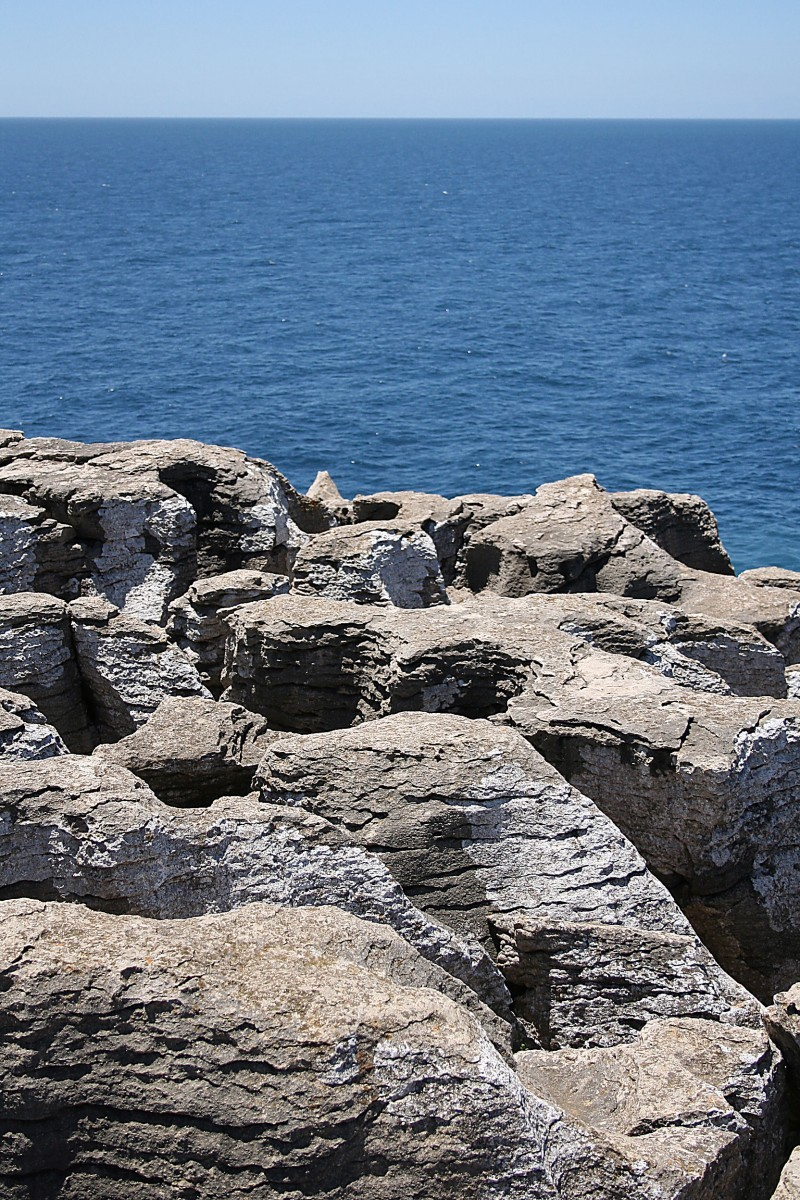 Rocks, sky and sea