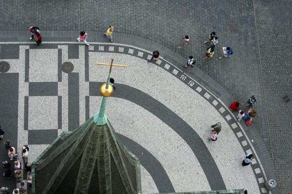 Nas ruas de Praga... turistas!