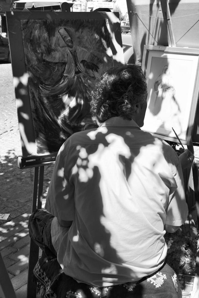 istambul turquia pintor