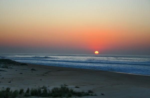 Sunset in  Paredes de Vitória beach III