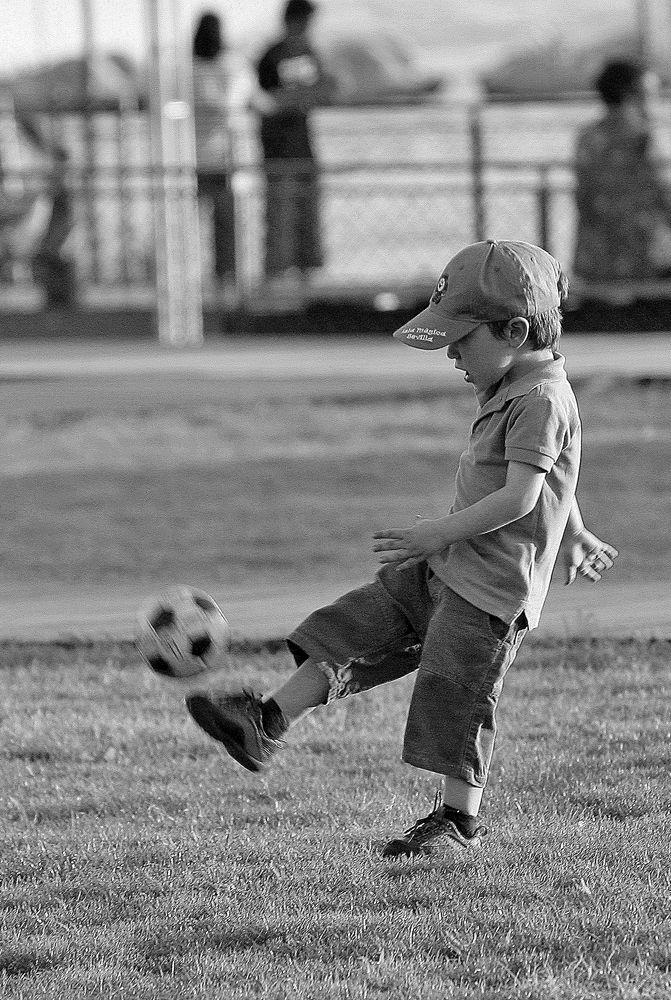 Um dia serei como o Pelé  ;)