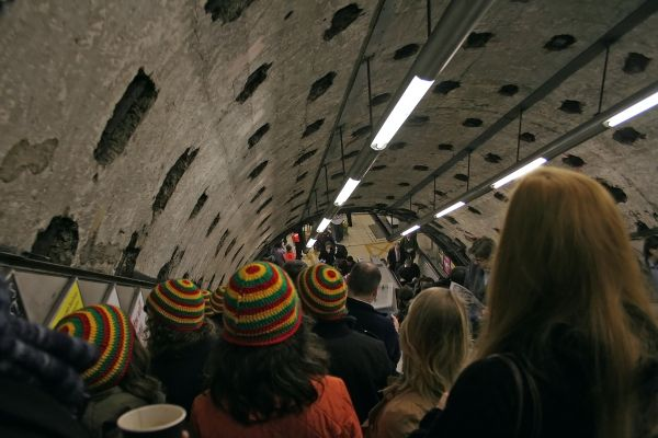 Underground ... and our hats are magic!