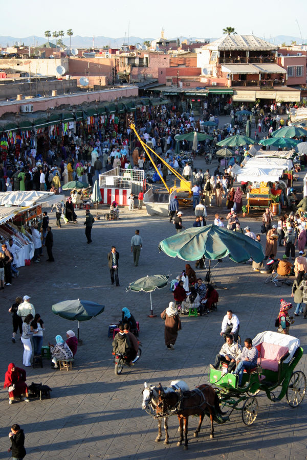 In the Medina of Marrakech - big mess