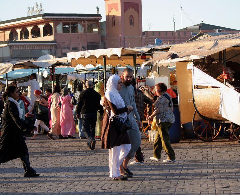 In the Medina of Marrakech - a couple