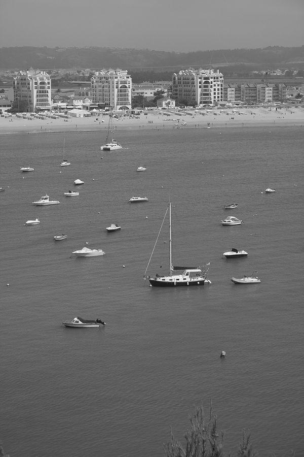 praia bw barcos martinhodoporto
