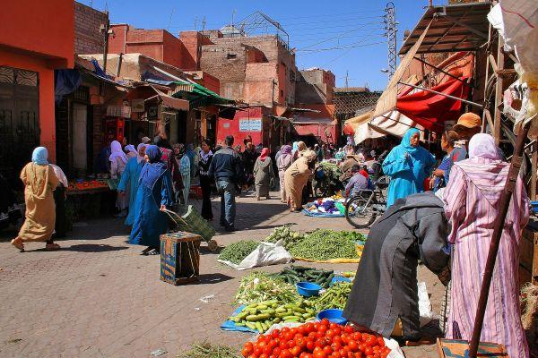 Na Medina de Marrakech
