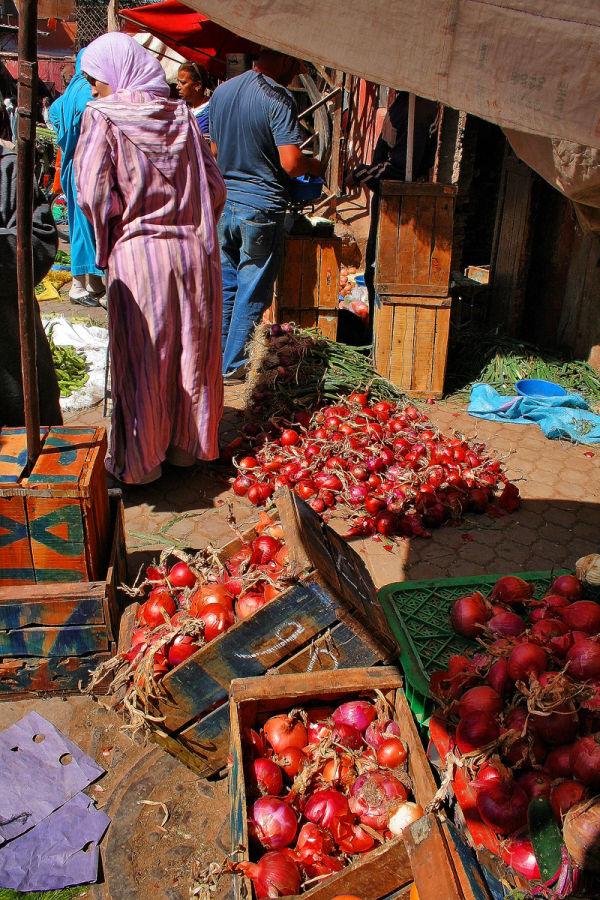marrocos marraquexe cebolas
